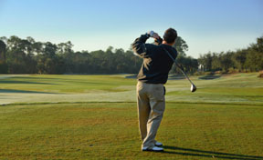 Golfer comes to Hogan Chiropractic for Sports Medicine and Injury Care.