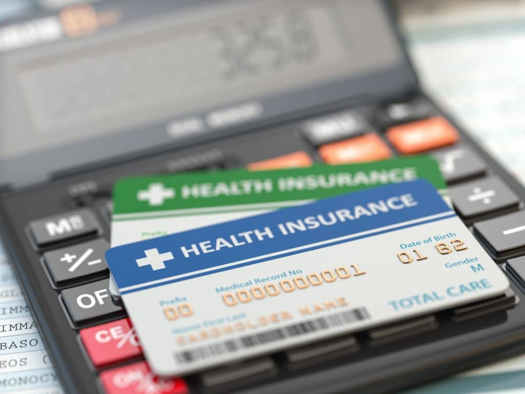 Photo of health insurance cards