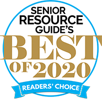 Senior Resource Guide Best Chiropractor of 2020 award badge