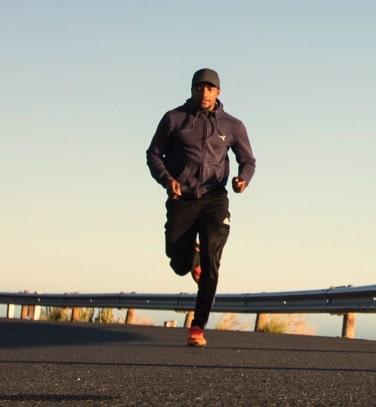 Man running doing a Endurance Exercises
