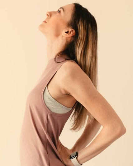A women doing a stretches' Flexibility Exercises